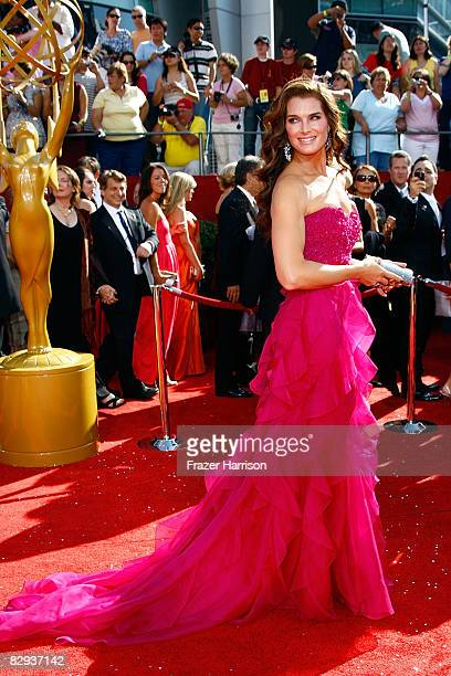 Actress Brooke Shields arrives at the 60th Primetime Emmy Awards held at Nokia Theatre on September 21, 2008 in Los Angeles, California.