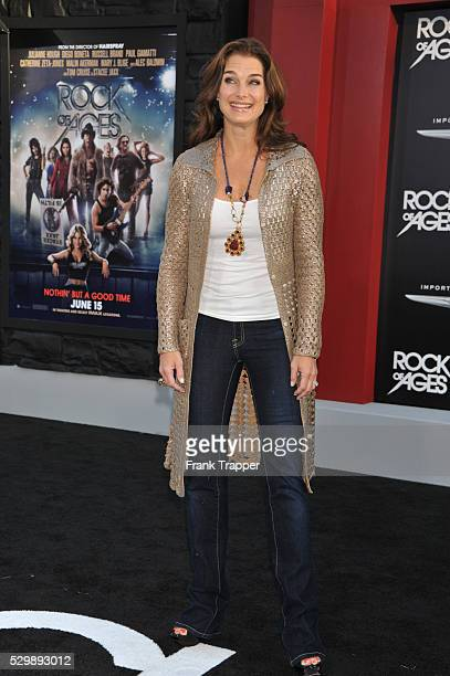 Actress Brooke Shields arrives at the world premiere of Rock of Ages held at Grauman's Chinese Theater in Hollywood