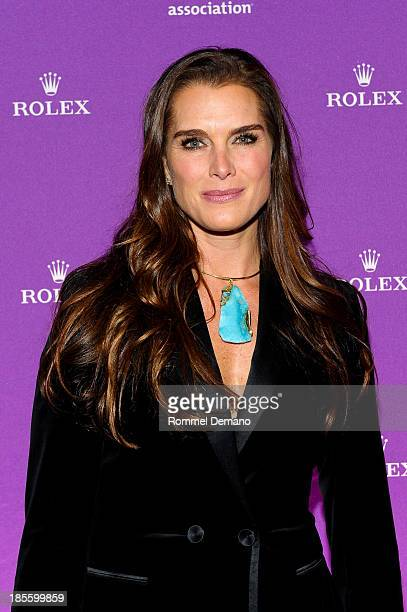 Actress Brooke Shields attends 2013 Alzheimer's Association Rita Hayworth 30th Anniversary gala at The Waldorf Astoria on October 22, 2013 in New...