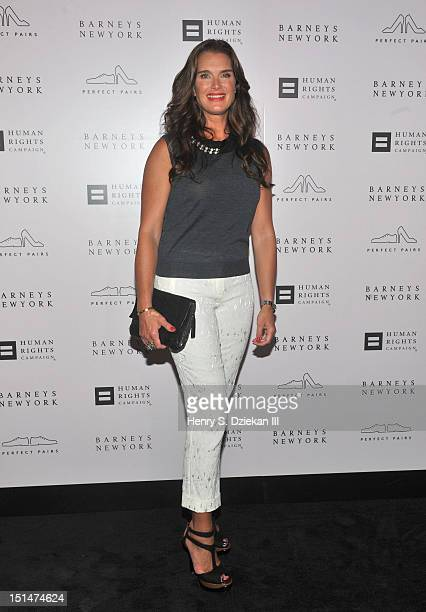 Actress Brooke Shields attends a cocktail party at Barneys New York on September 7, 2012 in New York City.