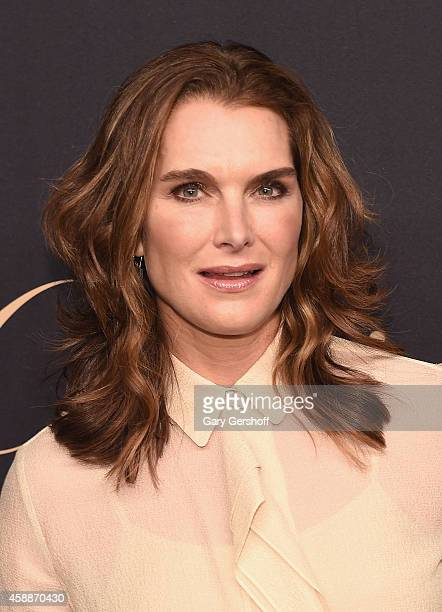 Actress Brooke Shields attends a dinner celebrating Women Who Dare hosted by Panthere De Cartier and Harper's Bazaar at Skylight Clarkson Sq on...