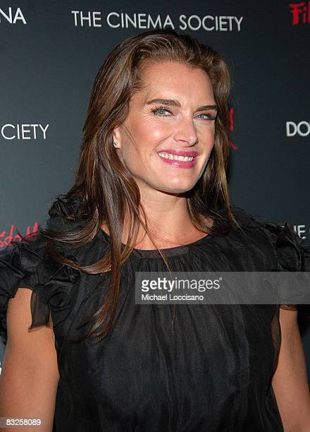 Actress Brooke Shields attends a screening of Filth and Wisdom hosted by The Cinema Society and Dolce and Gabbana at the IFC Center on October 13...