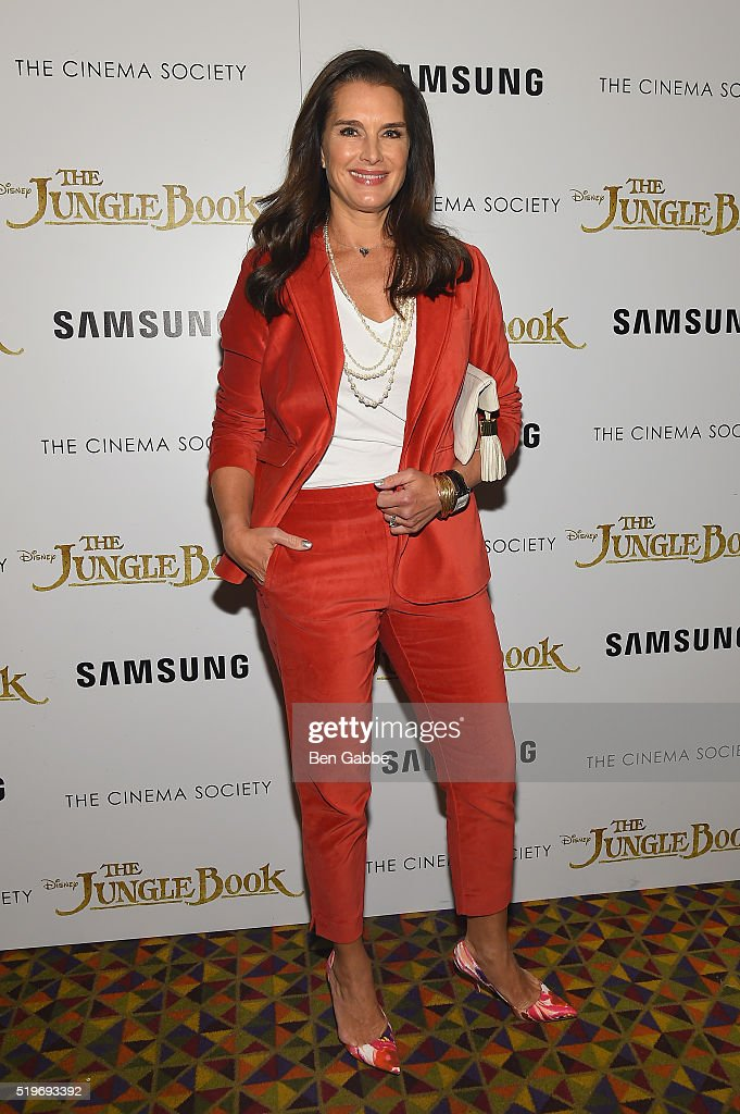 Actress Brooke Shields attends Disney with The Cinema Society & Samsung host a screening of 'The Jungle Book' at AMC Empire 25 theater on April 7, 2016 in New York City.