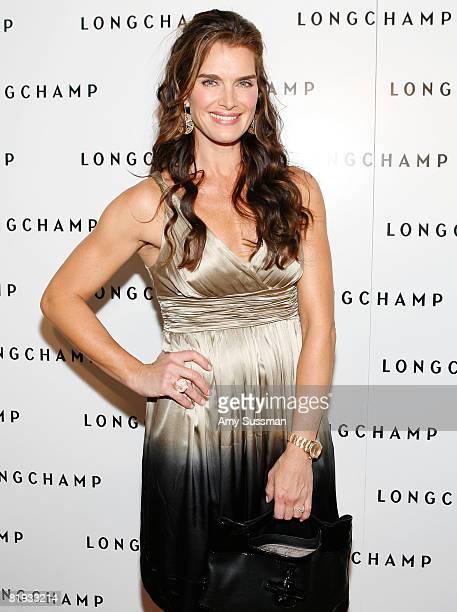 Actress Brooke Shields attends Longchamp's 60th Anniversary celebration at La Maison Unique Longchamp on July 14 2008 in New York City