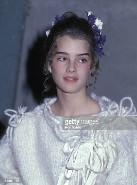 Actress Brooke Shields attends Michaele Vollbracht's Debut Fashion Show to Benefit the American Cancer Society on May 4 1978 at Numbe Nine West 57th...