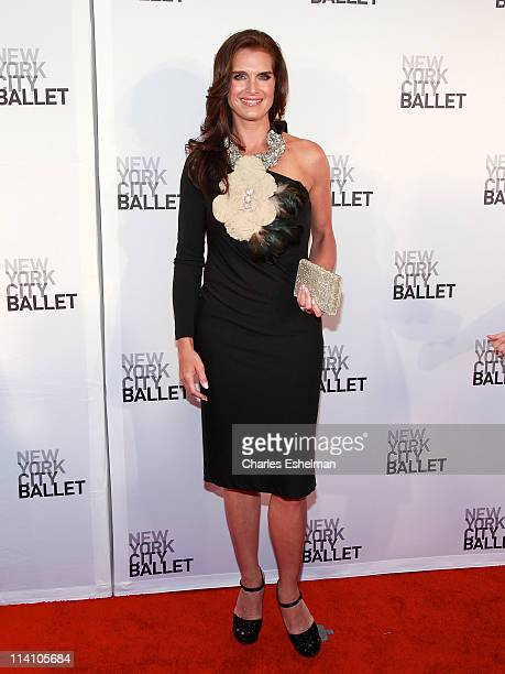 Actress Brooke Shields attends the 2011 New York City Ballet spring gala at the David H Koch Theater Lincoln Center on May 11 2011 in New York City