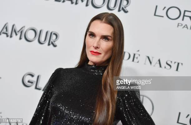 US actress Brooke Shields attends the 2019 Glamour Women Of The Year Awards at Alice Tully Hall Lincoln Center on November 11 2019 in New York City