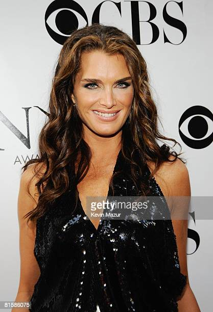 Actress Brooke Shields attends the 62nd Annual Tony Awards at Radio City Music Hall on June 15 2008 in New York City