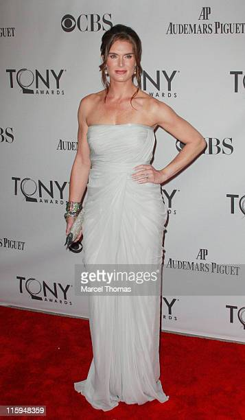 Actress Brooke Shields attends the 65th Annual Tony Awards at the Beacon Theatre on June 12 2011 in New York City