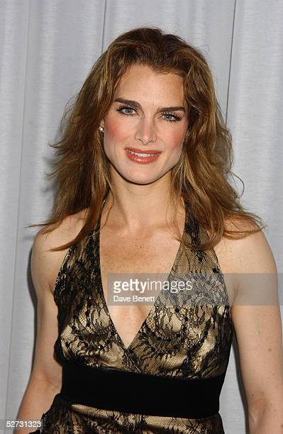 Actress Brooke Shields attends the after show party following the first night in her role as Roxie Hart in the west end show Chicago The Muscial at...