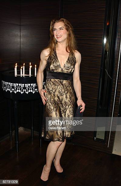 """Actress Brooke Shields attends the after show party following the first night in her role as Roxie Hart in the west end show """"Chicago - The Muscial""""..."""