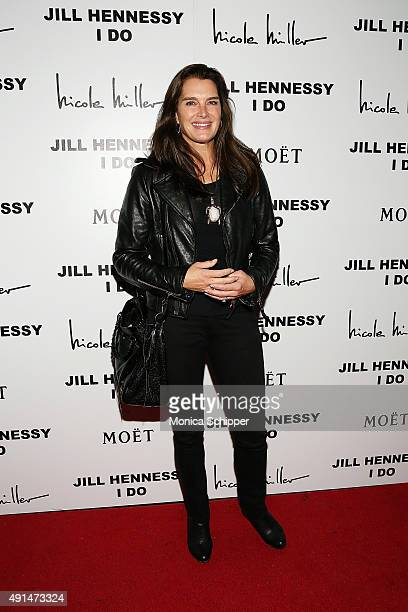 Actress Brooke Shields attends the album release party for Jill Hennessy's 'I Do' at The Cutting Room on October 5 2015 in New York City