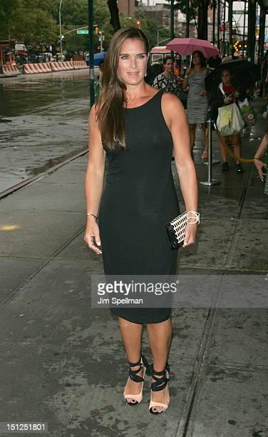 Actress Brooke Shields attends the 'Bachelorette' New York Premiere at Landmark's Sunshine Cinema on September 4 2012 in New York City