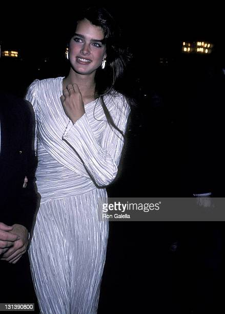 Actress Brooke Shields attends the 'Broadway Salutes Manhattan' Fundraiser for City Council President Andrew Stein on May 3 1981 at the Shubert...