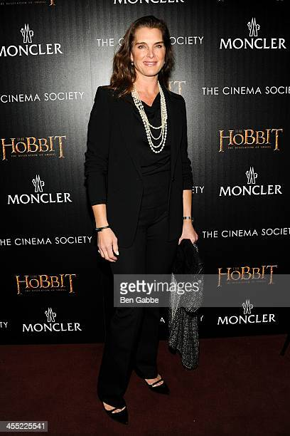 """Actress Brooke Shields attends The Cinema Society & Moncler host a screening of New Line Cinema & MGM Pictures' """"The Hobbit: The Desolation of Smaug""""..."""