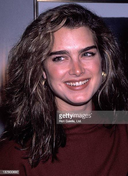 Actress Brooke Shields attends the Cocktail Reception for Sven Nykvist's Oscar Nomination for Best Foreign Language Film Oxen on March 12 1992 at the...