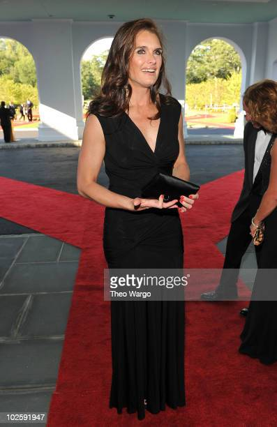 Actress Brooke Shields attends The Greenbrier for the gala opening of the Casino Club on July 2 2010 in White Sulphur Springs West Virginia