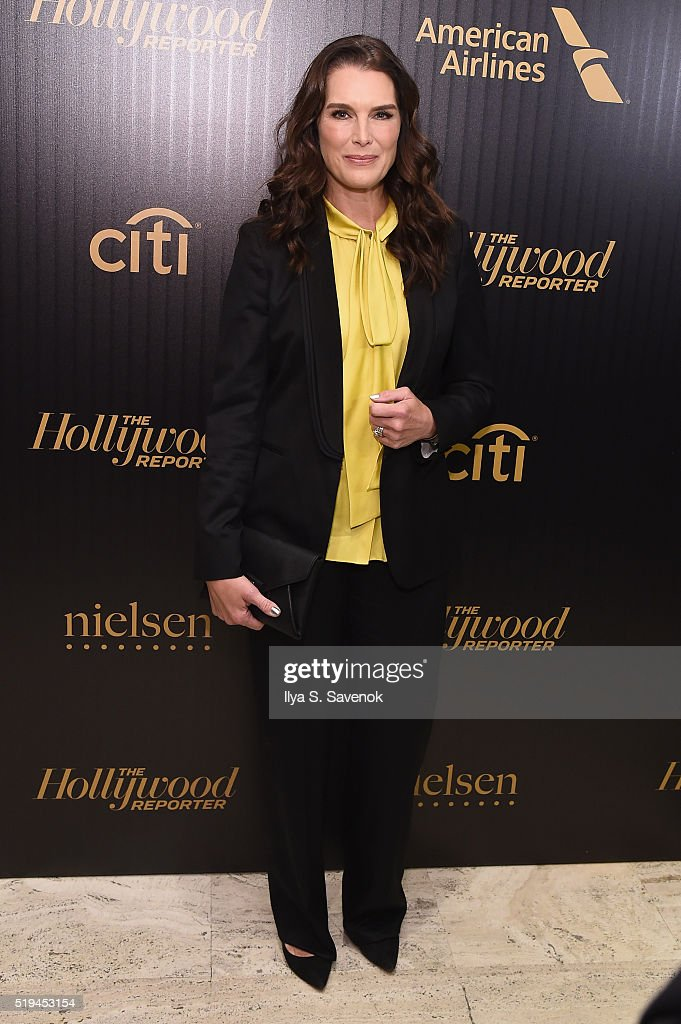 Actress Brooke Shields attends the Hollywood Reporter's 2016 35 Most Powerful People in Media at Four Seasons Restaurant on April 6, 2016 in New York City.