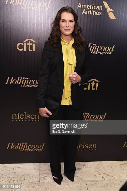 Actress Brooke Shields attends the Hollywood Reporter's 2016 35 Most Powerful People in Media at Four Seasons Restaurant on April 6 2016 in New York...