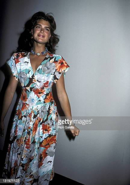 Actress Brooke Shields attends the Manhattan Theatre Club's 14th Annual Spring Gala on May 12 1986 at the Marriott Marquis Hotel in New York City