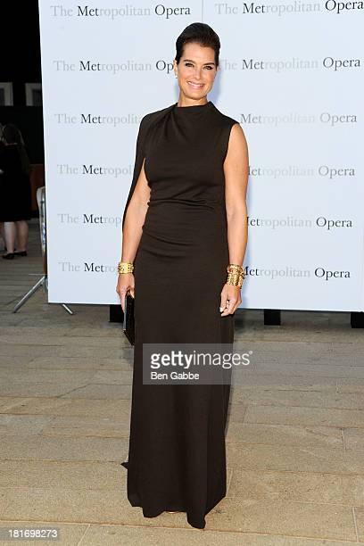 Actress Brooke Shields attends the Metropolitan Opera season opening production of Eugene Onegin at The Metropolitan Opera House on September 23 2013...
