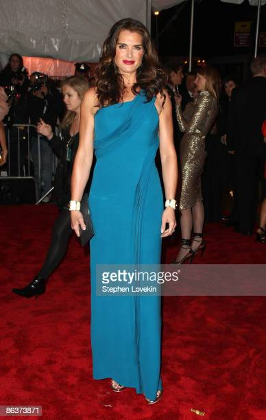 Actress Brooke Shields attends 'The Model as Muse Embodying Fashion' Costume Institute Gala at The Metropolitan Museum of Art on May 4 2009 in New...