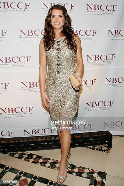 Actress Brooke Shields attends the National Breast Cancer Coalition's annual gala at Cipriani on November 10 2008 in New York City