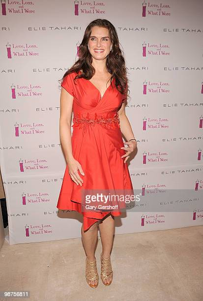 Actress Brooke Shields attends the new cast member welcoming party for 'Love Loss and What I Wore' at Elie Tahari Boutique Soho on April 29 2010 in...