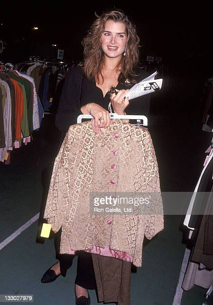 Actress Brooke Shields attends the Posh on Park Sale Opening Night Cocktail Reception and Preview to Benefit The Lighthouse on April 29 1993 at...