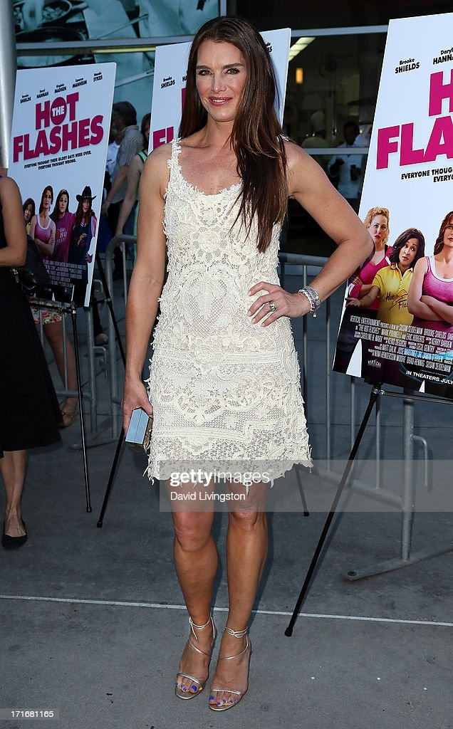 Actress Brooke Shields attends the premiere of 'The Hot Flashes' at ArcLight Cinemas on June 27, 2013 in Hollywood, California.