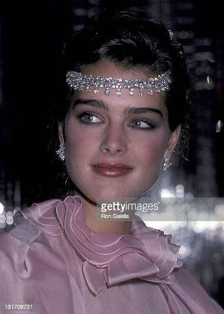 Actress Brooke Shields attends the Press Party to Announce Brooke Shields at the Newest Spokesperson for Wella Corporation on May 6 1981 at Regine's...