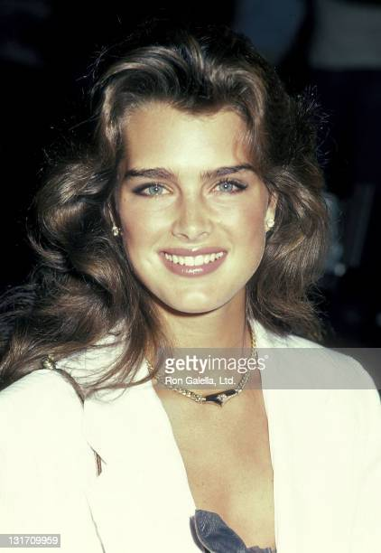 "Actress Brooke Shields attends the ""Staying Alive"" Hollywood Premiere on July 11, 1983 at Mann's Chinese Theatre in Hollywood, California."