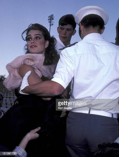 Actress Brooke Shields attends the Taping of the NBC Television Special 'Bob Hope's AllStar Comedy Birthday Party from West Point' on May 17 1981 at...
