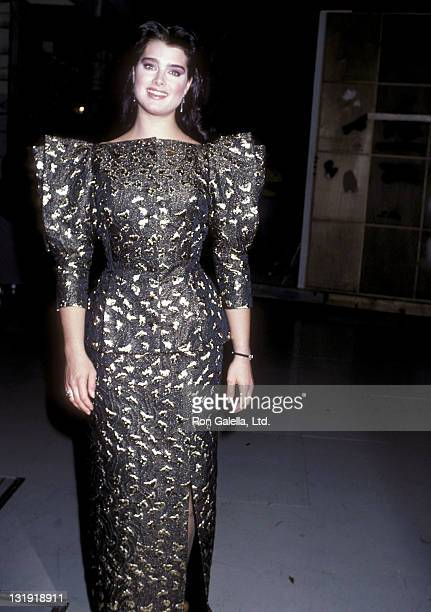 Actress Brooke Shields attends the Taping of the NBC Television Special 'Bob Hope's Bagful of Christmas Cheer' on November 30 1986 at NBC Television...