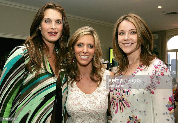 Actress Brooke Shields author Jane Buckingham and actress Krista Miller attends the party to celebrate Jane Buckingham's new novel at the Beverly...