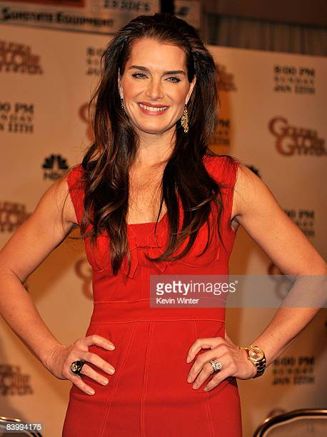Actress Brooke Shields during the 66th Annual Golden Globes nomination announcements held at the Beverly Hilton on December11 2008 in Beverly Hills...