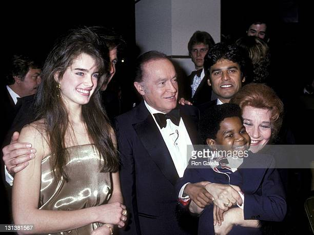 Actress Brooke Shields entertainer Bob Hope actor Erik Estrada actor Gary Coleman and actress Charlotte Rae attend the NBC Television Special 'Bob...