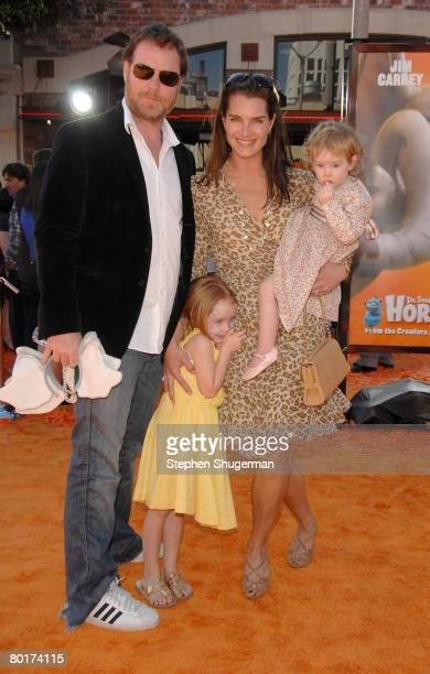 Actress Brooke Shields husband Chris Henchy daughters Chris and Grier attend the premiere of 20th Century Fox's Horton Hears A Who at the Mann...