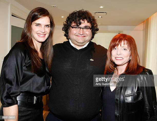 Actress Brooke Shields jewelry designer Sevan and Dr Patricia Wexler attend the Sevan luncheon at Barneys New York on March 9 2009 in New York City