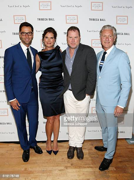Actress Brooke Shields screenwriter Chris Henchy and President of New York Academy of Art David Kratz attend the New York Academy Of Art's Tribeca...