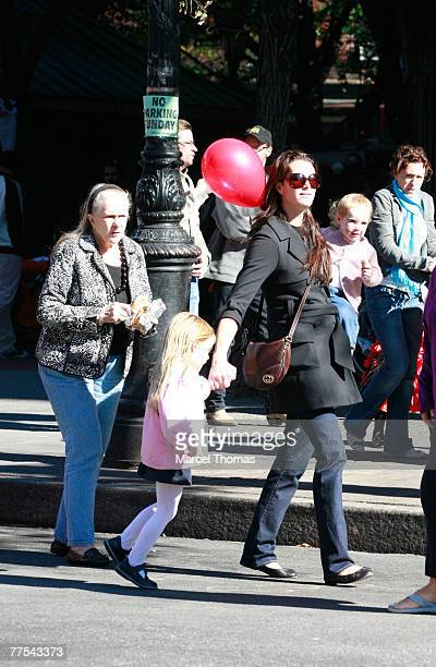 Actress Brooke Shields with daughters Rowan Henchy and Grier Henchy and mother Teri Shields attend a Halloween party October 28 2007 in the West...