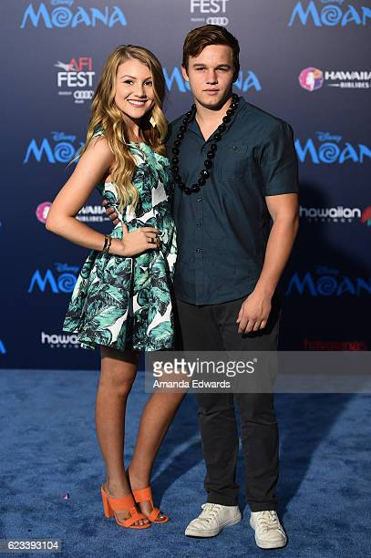 Actress Brooke Sorenson and actor Gavin MacIntosh arrive at the AFI FEST 2016 Presented By Audi premiere of Disney's 'Moana' at the El Capitan...