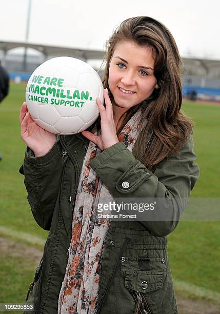 Actress Brooke Vincent attends a football match in memory of their former colleague Gavin Blyth in aid of Macmillan Cancer Support at Regional Sports...