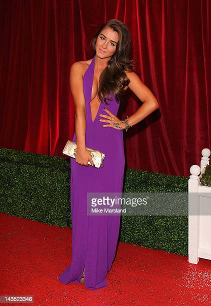 Actress Brooke Vincent attends the British Soap Awards at The London Television Centre on April 28 2012 in London England