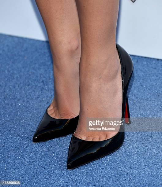 Actress Brooke Wexler shoe detail arrives at the world premiere of Joe Dirt 2 Beautiful Loser hosted by Crackle at Sony Studios on June 24 2015 in...