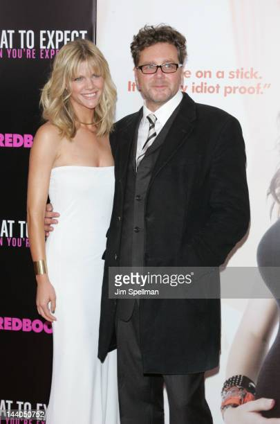 Actress Brooklyn Decker and director Kirk Jones attend the What To Expect When Your Expecting premiere at AMC Lincoln Square Theater on May 8 2012 in...