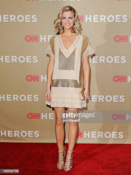 Actress Brooklyn Decker arrives at the 2011 CNN Heroes An AllStar Tribute at The Shrine Auditorium on December 11 2011 in Los Angeles California