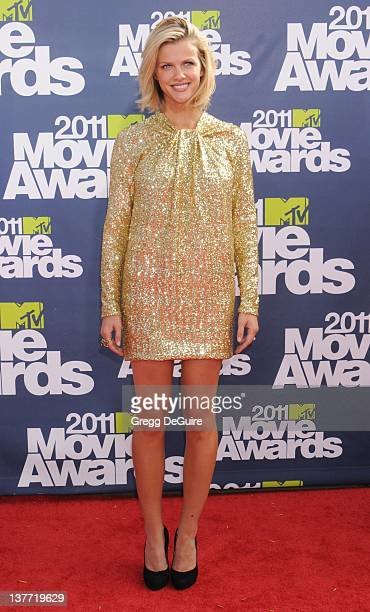 Actress Brooklyn Decker arrives at the 2011 MTV Movie Awards at the Gibson Amphitheatre on June 5 2011 in Universal City California