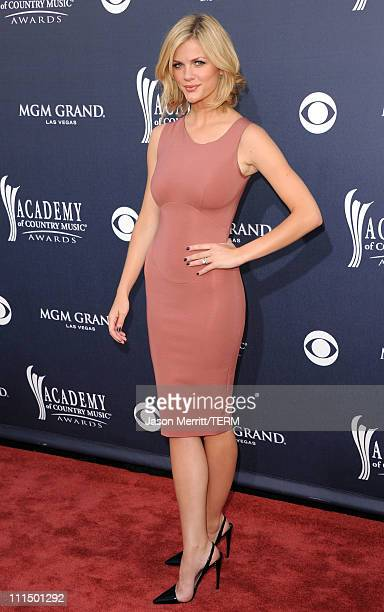 Actress Brooklyn Decker arrives at the 46th Annual Academy Of Country Music Awards RAM Red Carpet held at the MGM Grand Garden Arena on April 3 2011...