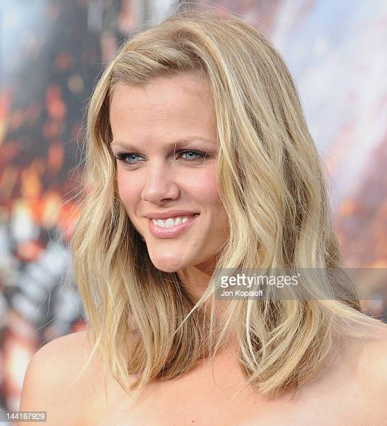 Actress Brooklyn Decker arrives at the Los Angeles Premiere Battleship at the Nokia Theatre LA Live on May 10 2012 in Los Angeles California